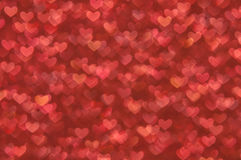 Defocused abstract red hearts light background Stock Image