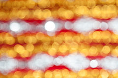 Defocused abstract red and yellow bokeh background Royalty Free Stock Photos