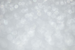 Defocused abstract silver lights background Royalty Free Stock Images