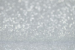 Defocused abstract silver lights background Stock Images
