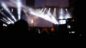 Defocused abstract of the singer in concert stock footage