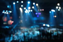Defocused abstract spotlights on concert Royalty Free Stock Photos
