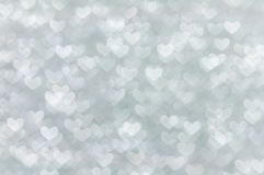 Defocused abstract white hearts light background Royalty Free Stock Photo