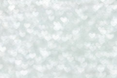 Defocused abstract white hearts light background Royalty Free Stock Images