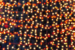 Defocused abstract yellow christmas background Royalty Free Stock Photography