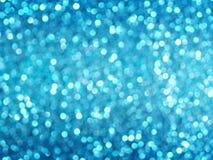 Defocused abstrakcjonistyczny błękit zaświeca tło Bokeh światła Obrazy Stock