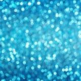 Defocused abstrakcjonistyczny błękit zaświeca tło Bokeh światła Fotografia Royalty Free