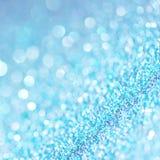 Defocused abstrakcjonistyczny błękit zaświeca tło Bokeh światła Obrazy Royalty Free
