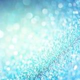 Defocused abstrakcjonistyczny błękit zaświeca tło Bokeh światła Obraz Stock