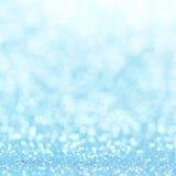 Defocused abstrakcjonistyczny błękit zaświeca tło Bokeh światła Obraz Royalty Free