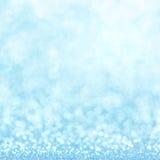 Defocused abstrakcjonistyczny błękit zaświeca tło Bokeh światła Zdjęcia Royalty Free