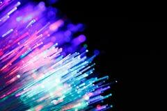 Defocused abstrakcjonistyczny tło włókno światłowodowe kable Fotografia Royalty Free