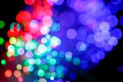 Defocused abstrakcjonistyczny tło włókno światłowodowe kable Zdjęcie Stock