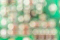 Defocused abstrakcjonistyczny tło zieleni powierzchnia z światłami Fotografia Royalty Free
