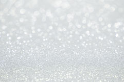 Defocused abstrakt bakgrund för vita ljus Arkivfoton