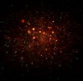 Defocused abstrakt czerwień i zielone światła pękamy tło Zdjęcia Royalty Free