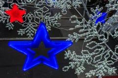 Defocused abstrakt julbakgrund Royaltyfri Fotografi