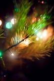 Defocused abstrakt julbakgrund Fotografering för Bildbyråer