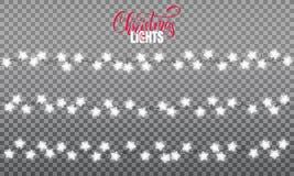Defocused abstrakt julbakgrund Realistiska beståndsdelar för radljusdesign av stjärnan formar lampor Glödande ljus för vinterferi royaltyfri illustrationer