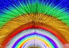 Defocused abstrakt ljus rörelse Arkivfoton