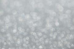 Defocused abstrakt silver tänder bakgrund Royaltyfri Bild