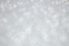 Defocused abstrakt silver tänder bakgrund Royaltyfria Bilder