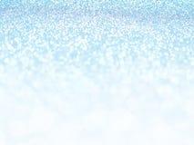 Defocused abstrakter Blaulichthintergrund Bokeh Leuchten Lizenzfreies Stockfoto