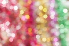 Defocused abstrakter Feiertags- und Weihnachtshintergrund Stockfotos