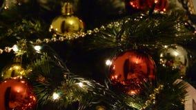 Defocused abstrakter Weihnachtshintergrund stock video footage