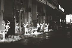 Defocused abstrakter Weihnachtshintergrund Stockbilder