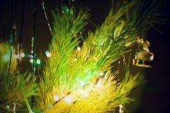 Defocused abstrakter Weihnachtshintergrund Lizenzfreie Stockbilder
