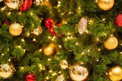 Defocused abstrakter Weihnachtshintergrund Lizenzfreie Stockfotografie
