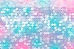 Defocused, abstraktes Hintergrundfarblicht bokeh kreist ein Lizenzfreies Stockfoto