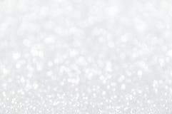 Defocused abstraktes Silber beleuchtet Hintergrund Stockbild