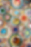 Defocused background of Colorful glass mosaic art Royalty Free Stock Images