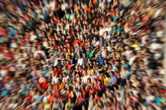 Defocused background of crowd of people in a stadium Royalty Free Stock Images