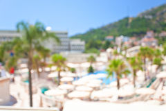 Defocused background of summer hotel Royalty Free Stock Photos