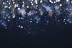 Defocused bakgrund för julljus stock illustrationer