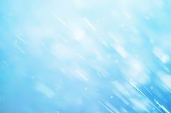 Defocused bakgrund för abstrakt blå bokeh Royaltyfria Foton