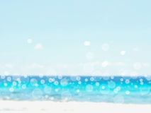 Defocused beach background with bokeh Royalty Free Stock Photo