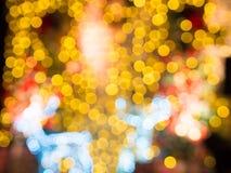 Defocused Bild von Weihnachtslichtern Stockfotografie