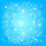 Defocused blue abstract christmas background Stock Photography