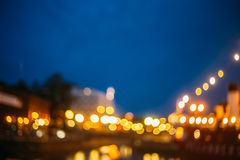 Defocused Blue Boke Bokeh Urban City Background. Effect. Design Backdrop royalty free stock photos