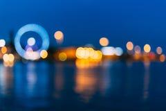 Defocused Blue Boke Bokeh Urban City Background Stock Photography
