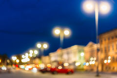 Defocused Blue Boke Bokeh Urban City Background. Effect. Design Backdrop royalty free stock photo