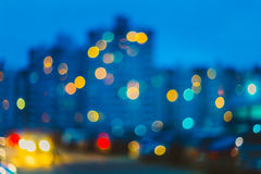 Defocused Blue Bokeh Urban Background Royalty Free Stock Images