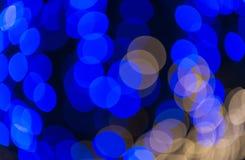 Defocused blue circle light background Stock Photo
