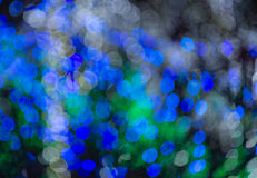 Defocused blue circle light background Royalty Free Stock Images