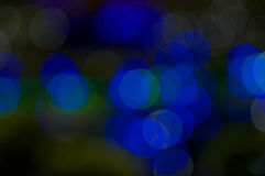 Defocused of blue and green glitter or bokeh Stock Image