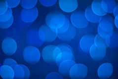 Defocused blue lights. Stock Images